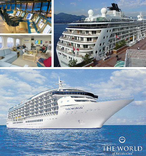 Privately Owned Apartments: The World Cruise Ship Owned By The Super Rich
