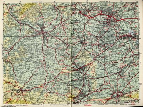 Map of Berkshire Hampshire Surrey Border 1963