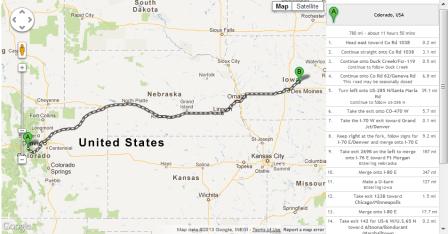 Iowa to Colorado