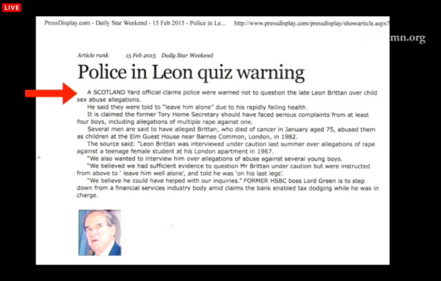 UKC 17 February 2015 -Police warned of Quest Brittan