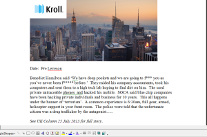 Kroll Memo
