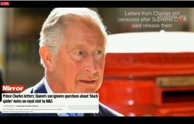 UKC 13 May 2015 - Prince Charles tries to stop info coming out