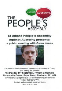 Owen Jones meeting