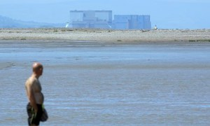 Burnham-on-Sea, overlooked by Hinkley Point nuclear power station