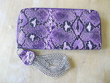 Purple snakeskin Eve Bag