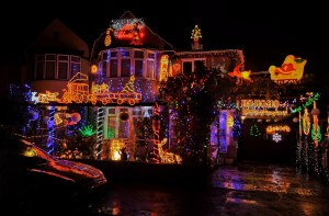 Christmas Lights-Dave Edwards house in Croxley Green.