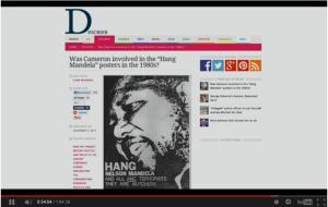 Hang Nelson Mandela Poster