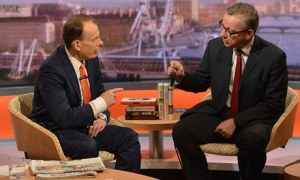 Michael Gove explains his position to Andrew Marr on BBC 1's current affairs programme.