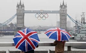 Umbrellas on UK Bridge
