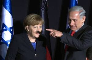 Angela Merkel and Netanyahu