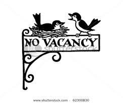 No Vancies sign