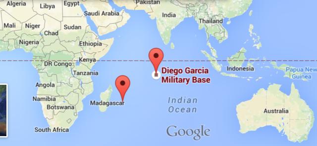 Proof Malaysian Flight MH370 at Diego Garcia' U S  Military