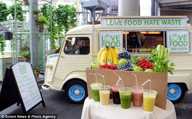 Food truck part of the national love food hate waste for Food truck juice bar