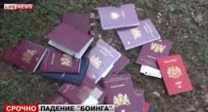 Passports found at the site DM