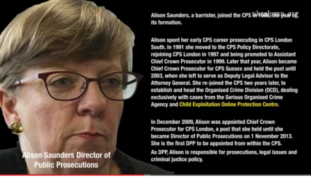 UKC 29 July 2014 Alison Saunders Crown Prosecution Service