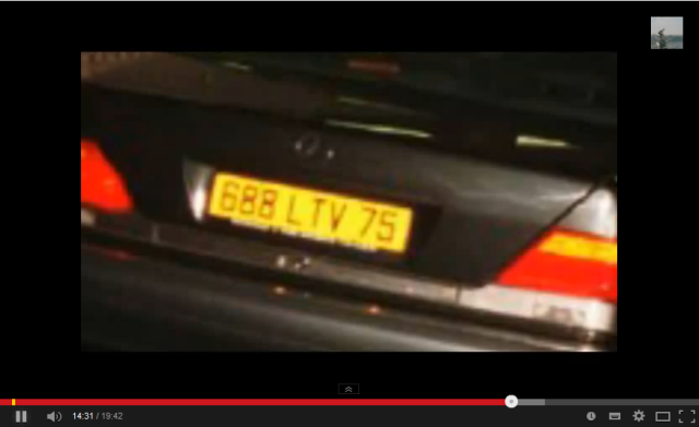 Jungle Surfer Number Plate