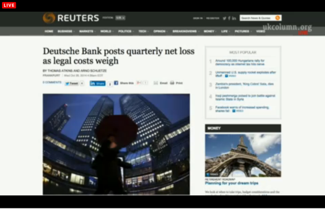UKC 29 October 2014 Deutsche Bank wasted money on fines