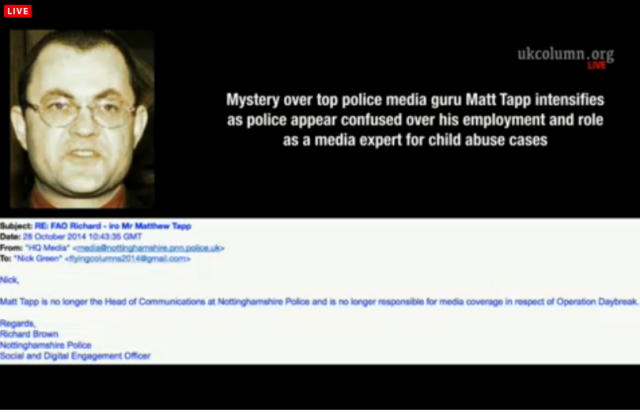 UKC 29 October 2014 The Role of the mysterious Matt Tapp and Child Abuse