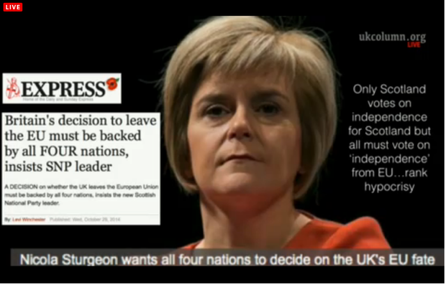 UKC 29 October 2014 UK EU Referendum we are not 4 sep nations