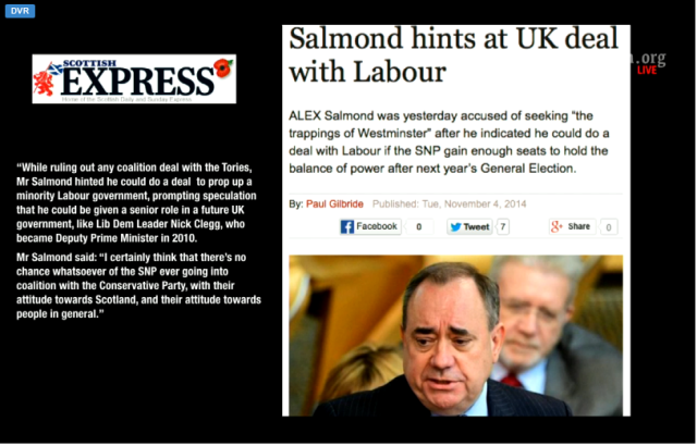 UKC 4 November 2014 T Salmond creeps back