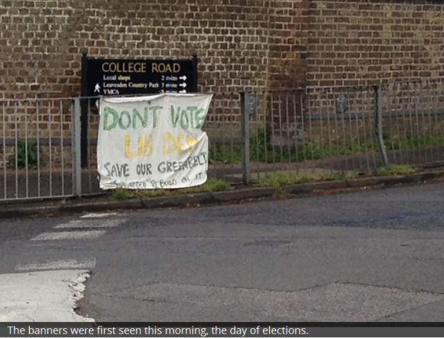 College Road dont vote libdem