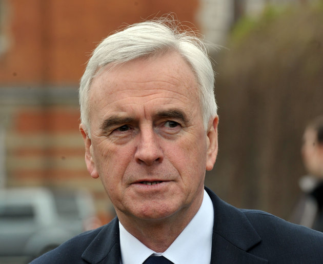 Shadow Chancellor John McDonnell outside Parliament following Chancellor of the Exchequer George Osborne's Budget.
