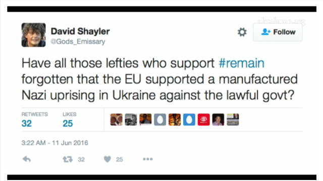ukc 14 june 2016 Good David Shayler Tweet